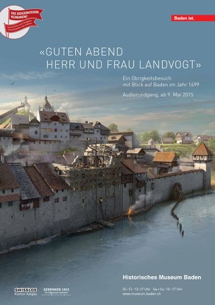 Audio-Rundgang im Landvogteischloss «Guten Abend Herr und Frau Landvogt» - Plakat zur Ausstellung